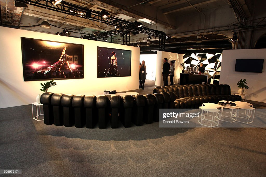 A view of the empty TRESemme Salon at Moynihan Station on February 11, 2016 in New York City.