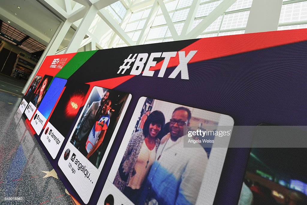 A view of the entrance at FAN FEST during the 2016 BET Experience on June 25, 2016 in Los Angeles, California.