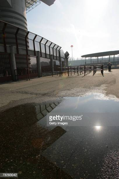 A view of the entrance for guest fans San Siro Stadium with no fans is seen before the AC Milan v Livorno serie A match on February 11 2007 in Milan...
