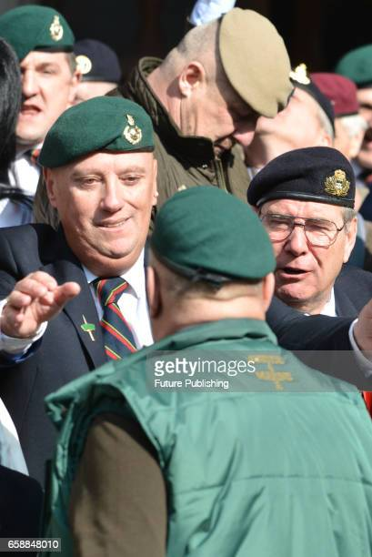 A view of the entrance gate of Royal Courts of Justice during Royal Marine Alexander Blackman hearing on March 28 2017 in London England A Royal...