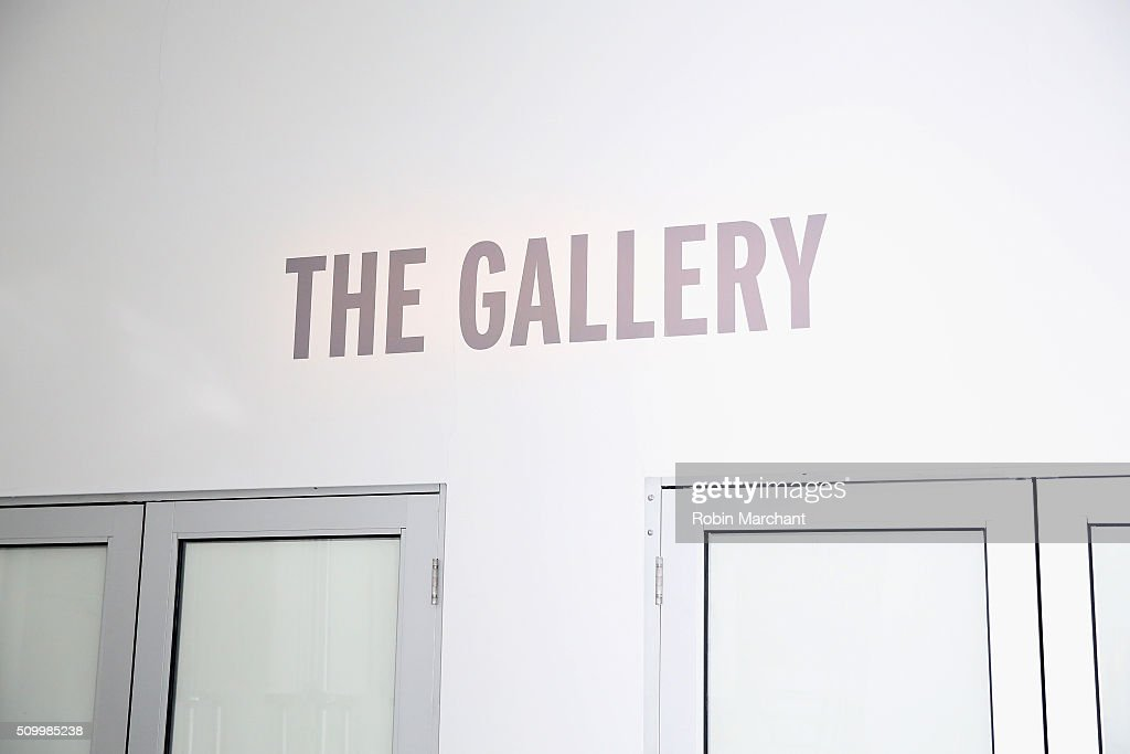 View of the entrance of The Gallery at Fall 2016 New York Fashion Week at the Gallery, Skylight at Clarkson Sq on February 13, 2016 in New York City.