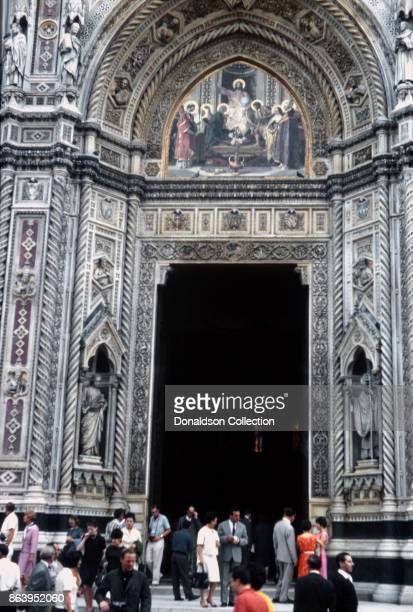 A view of the entrance to the Florence Cathedral on September 15 1963 in Florence Italy