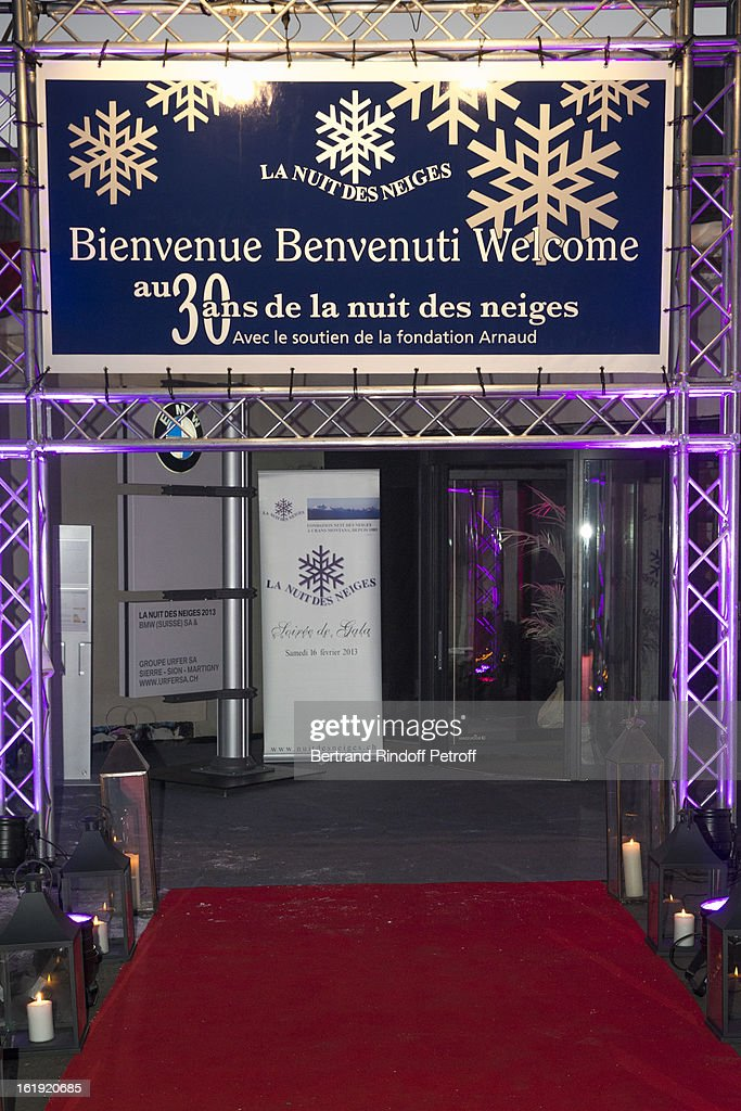 A view of the entrance to the Pierre Arnaud foundation in Lens, prior to the 30th edition of 'La Nuit Des Neiges' Charity Gala on February 16, 2013 in Crans-Montana, Switzerland.