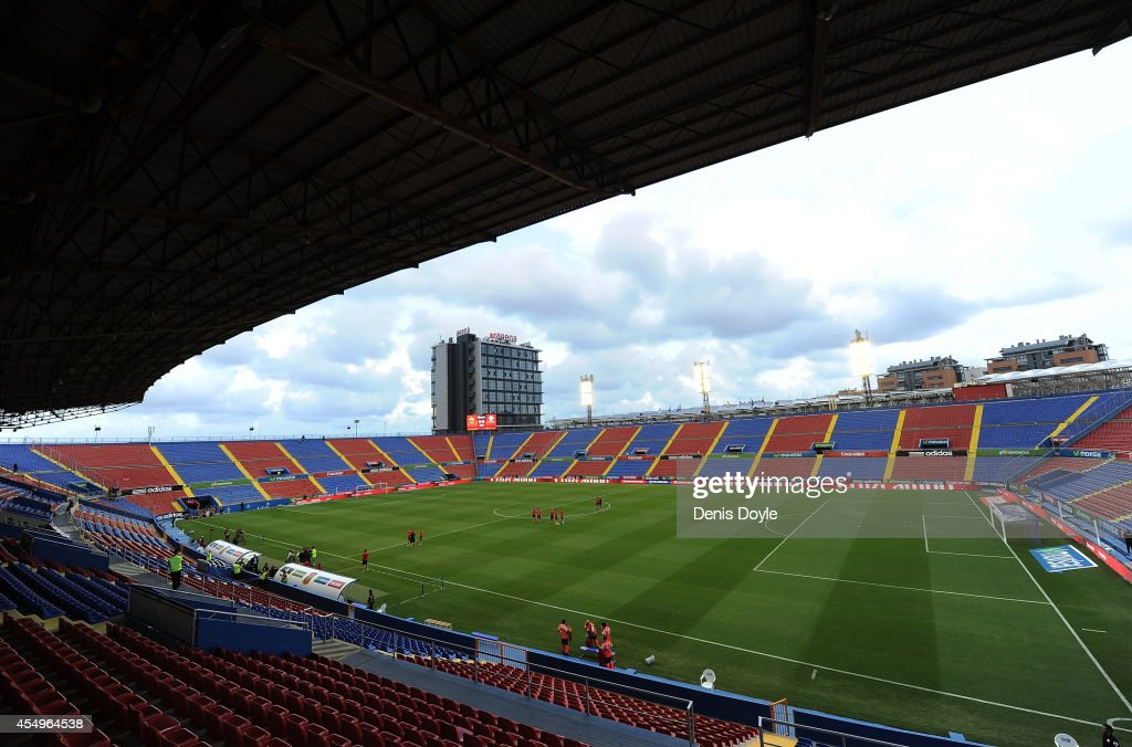 View of the Estadio Ciutat de Valencia prior to the UEFA EURO 2016 Group C Qualifier between Spain and FYR of Macedonia on September 8 2014 in...