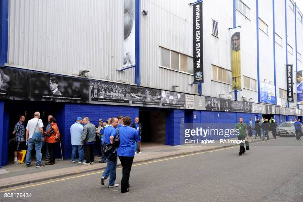 A view of the Everton timeline outside of Goodison Park