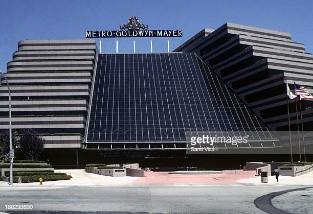 A view of the exrerior of the MGM studio building in Culver City in 1991 in Los Angeles California