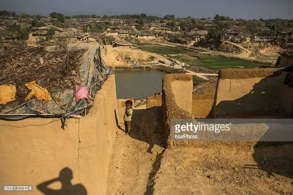 View of the extended Kutupalong Refugee Camp Cox's Bazar Bangladesh on February 13 2017 After attacks by Rohingya militants on border police posts on...
