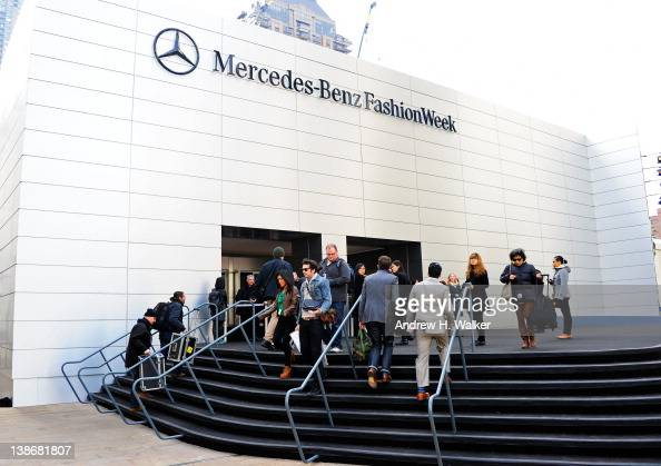 View of the exterior at Lincoln Center during Fall 2012 MercedesBenz Fashion Week for the Performing Arts on February 10 2012 in New York City