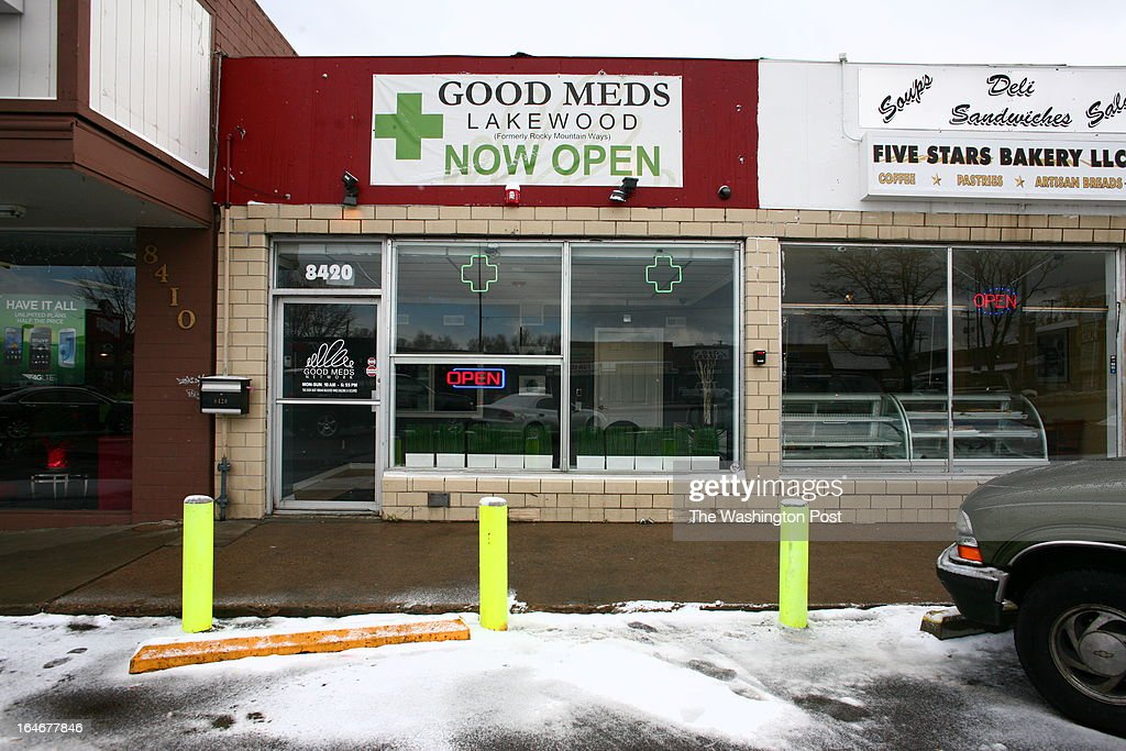A view of the exterior of a Good Meds medical cannabis center in Lakewood, Colorado, U.S., on Monday, March 4, 2013. This is at a Good Meds medical cannabis center in Lakewood, and is one of the facilities that Kristi Kelly, Co-Founder of Good Meds Network, operates.