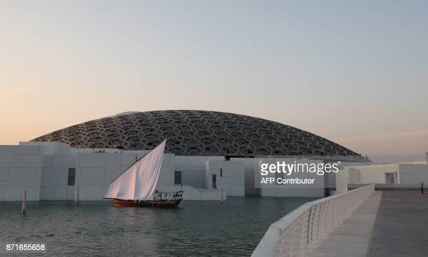 A view of the exterior of the Louvre Abu Dhabi museum on November 8 2017 More than a decade in the making the Louvre Abu Dhabi opens its doors today...
