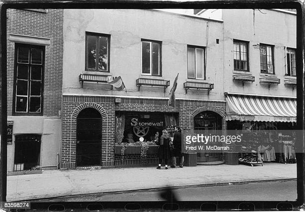 View of the exterior of the Stonewall Inn New York New York October 23 1993 In 1969 the bar and surrounding area were the site of a series of...