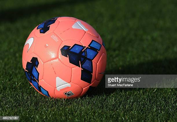 A view of the FA Cup football during an Arsenal FC training session at London Colney on January 3 2014 in St Albans England