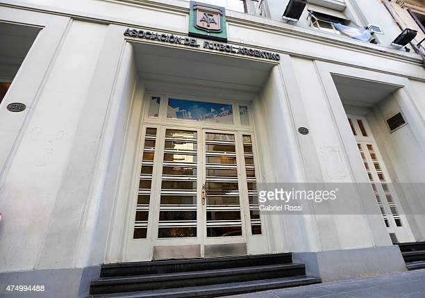 View of the facade of Argentine Football Association building on May 28 2015 in Buenos Aires Argentina Late AFA president Julio Grondona is suspected...