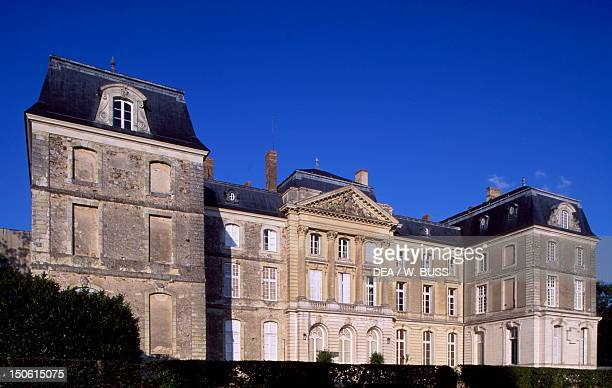 View of the facade of Chateau de Sable SablesurSarthe Pays de la Loire France 18th century