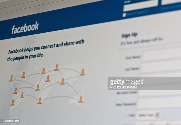 View of the Facebook homepage taken in Washington on May 6 2012 Facebook already assured of becoming one of the most valuable US firms when it goes...