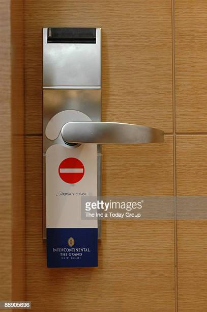 View of the fashionable House Door with automatic Lock in New Delhi India