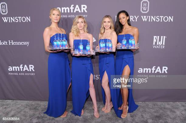 A view of the FIJI waters on offer at the amfAR New York Gala 2017 sponsored by FIJI Water at Cipriani Wall Street on February 8 2017 in New York City