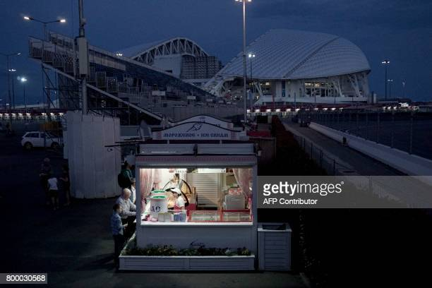 TOPSHOT A view of the Fisht stadium during the Russia 2017 Confederations Cup football tournament in Sochi on June 22 2017 / AFP PHOTO / PATRIK...