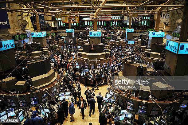 A view of the floor of the New York Stock Exchange on September 16 2008 just after the opening bell Global stock markets went into a dizzying fall...