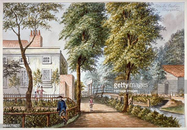 View of the Flora Tea Gardens Bayswater London c1840