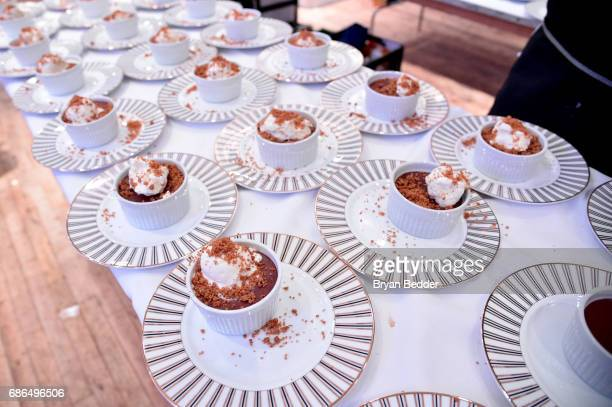 A view of the food prepared by Chef Jamie Bissonnette attends TNT's Will Dinner By Toro's Chef Jamie Bissonette presented by TNT'S Supper Club at...