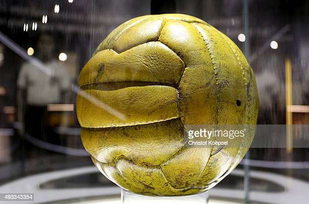 View of the football of the World Cup final 1954 in Bern at the German Football Museum at German Football Museum on October 19 2015 in Dortmund...