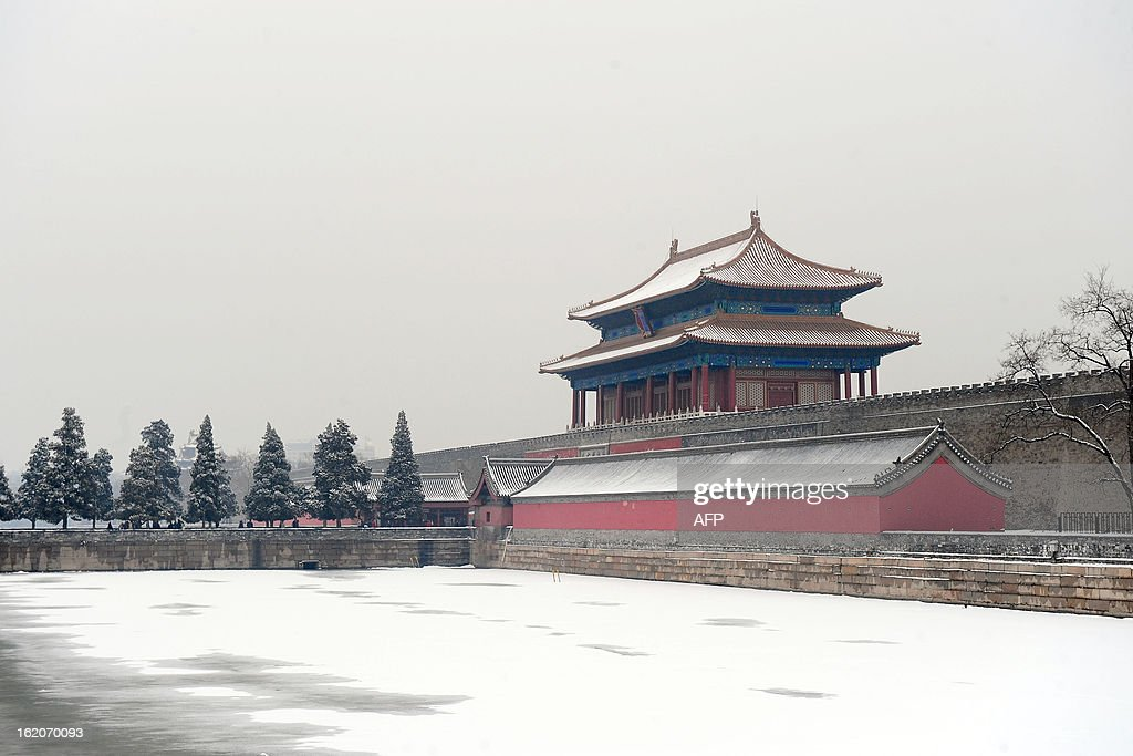 A view of the Forbidden city after a snowfall in Beijing on February 26 2011 The recent snow in the Beijing region was the first precipitation in the...