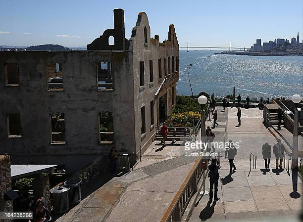 A view of the former warden's house at Alcatraz Island on March 21 2013 in San Francisco California The National Park Service marked the 50th...