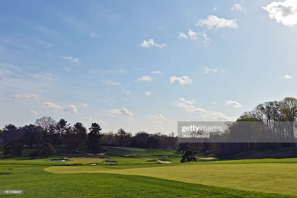 A view of the fourth fairway looking down to the green on the East Course at Merion Golf Club on April 22, 2013 in Ardmore, Pennsylvania. Merion Golf Club is the site for the 2013 U.S. Open that will be played June 13-16.