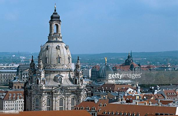 View of the Frauenkirche and of city rooftops, Dresden, Germany