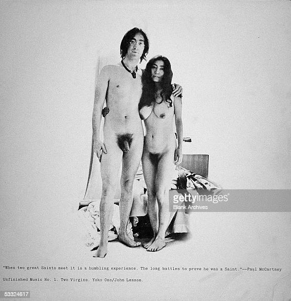 View of the front cover of the record album 'Two Virgins' by British musician John Lennon and Japaneseborn musician and artist Yoko Ono 1968 The two...