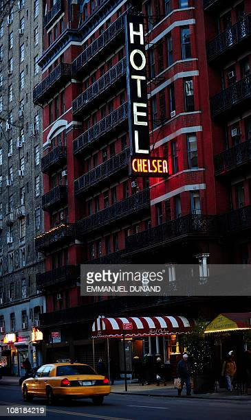 A view of the front facade of the Chelsea Hotel in New York January 10 2011 The Chelsea Hotel a haven for struggling artists for over 50 years is for...
