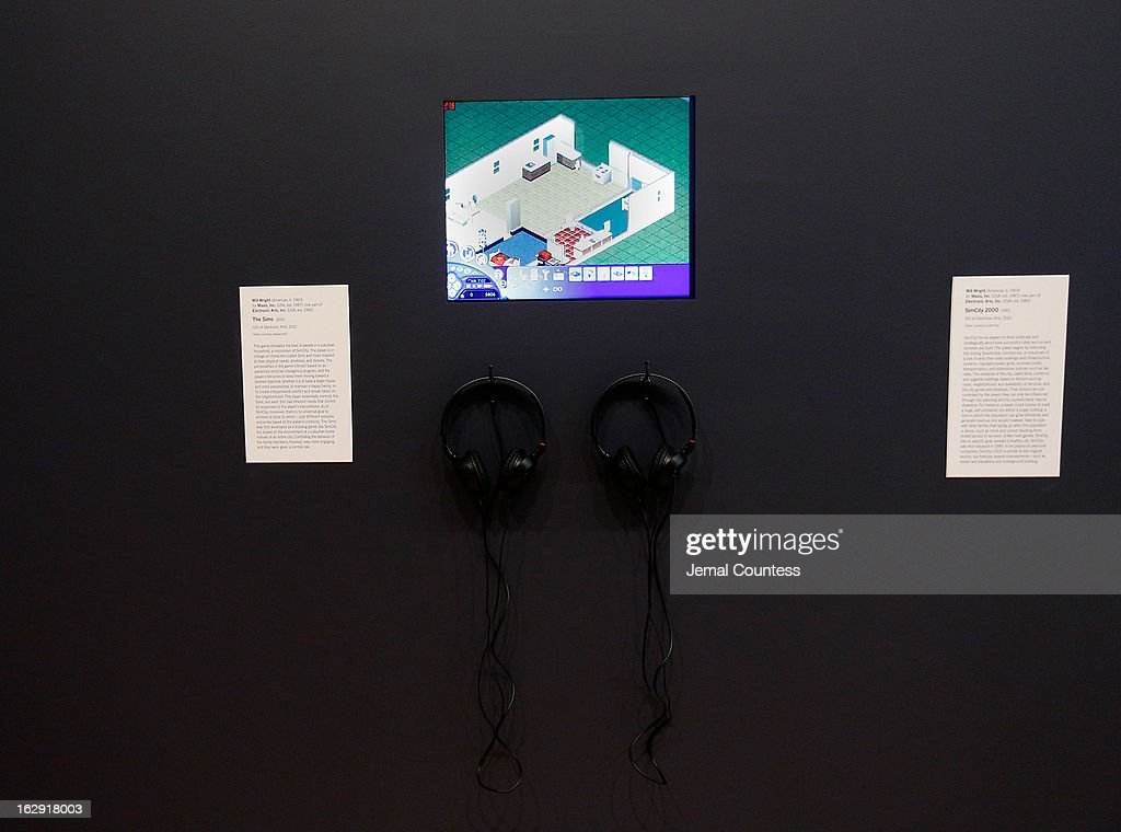 A view of the game 'The Simms' which is one of the 14 video games that are part of the exhibiton 'Applied Designs' during the 'Applied Design' press preview at The Museum of Modern Art on March 1, 2013 in New York City.