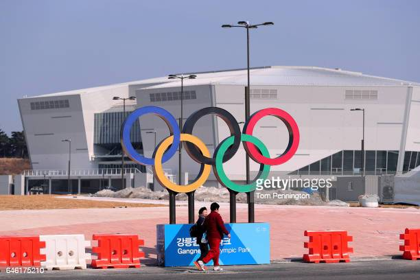 A view of the Gangneung Hockey Centre in the Gangneung Coastal Cluster host of the Pyeongchang 2018 Winter Olympic Games on February 28 2017 in...
