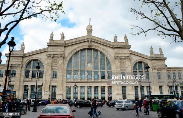 A view of the Gare du Nord train station on April 18 in Paris AFP PHOTO / BERTRAND GUAY