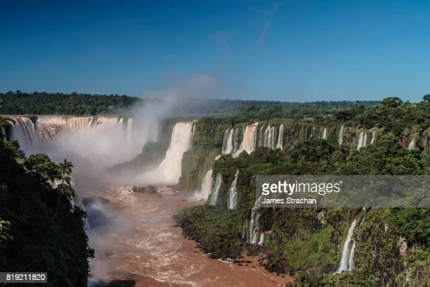 View of the Garganta del Diablo (Devil's Throat), Iguazu Falls (UNESCO World Heritage Site) from Brazilian side, Iguazu, Brazil