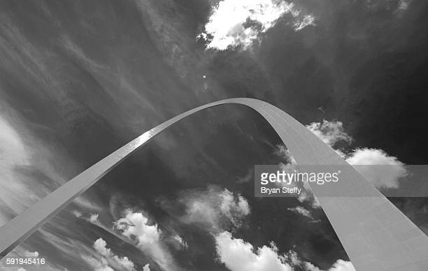 A view of the Gateway Arch Monument in St Louis Missouri on July 31 2016 The 630' monument cost USD $13 million was designed by Eero Saarinen in 1947...