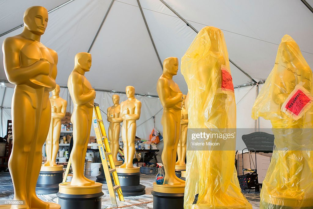 View of the general atmosphere during the 86th Annual Academy Awards Preparations at Hollywood & Highland Center on February 27, 2014 in Hollywood, California.