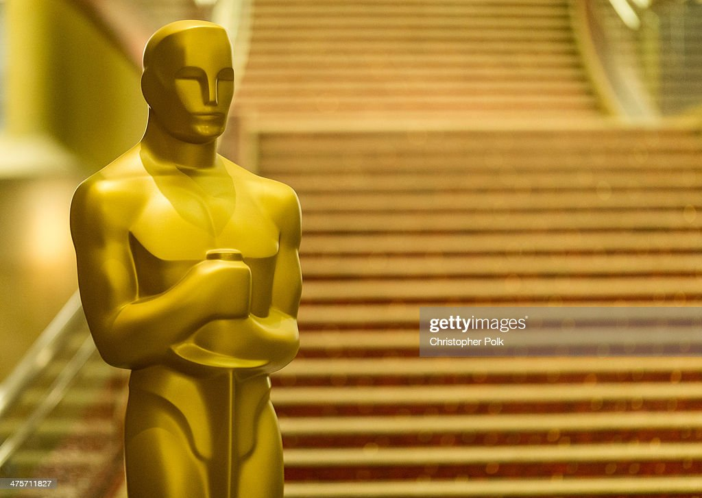 View of the general atmosphere during the 86th Annual Academy Awards Preparations at Hollywood & Highland Center on February 28, 2014 in Hollywood, California.