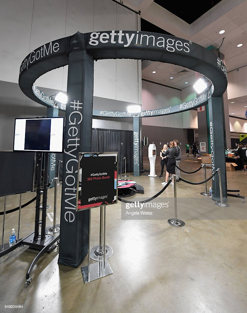 A view of the Getty Images booth at FAN FEST during the 2016 BET Experience on June 25, 2016 in Los Angeles, California.