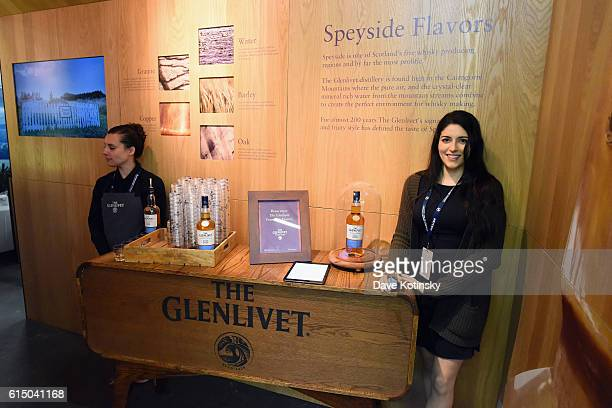 A view of the Glenlivet booth and Brand Ambassadors at the Food Network Cooking Channel New York City Wine Food Festival Presented By CocaCola Grand...