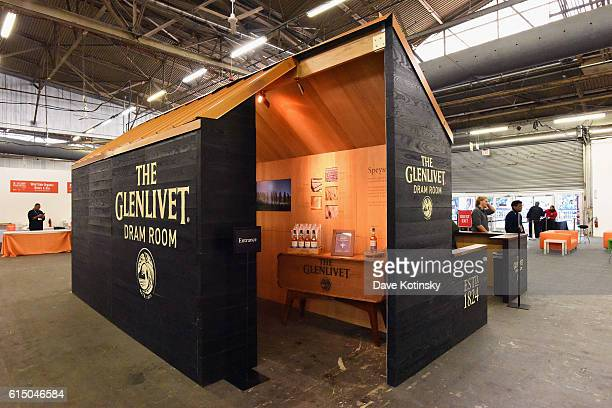 A view of the Glenlivet booth during the Grand Tasting presented by ShopRite featuring Samsung culinary demonstrations presented by MasterCard at the...
