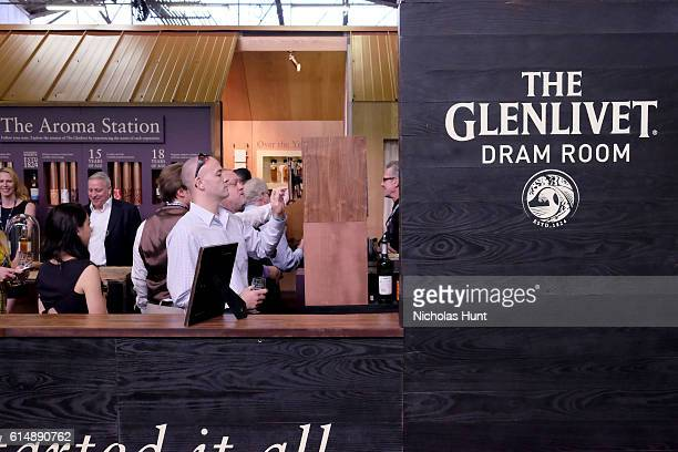 A view of the Glenlivet Dram Room at Southern Glazer's Wine Spirits Trade Day presented by Beverage Media at Pier 94 on October 14 2016 in New York...