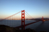 A view of the Golden Gate Brdige from the Marin Headlands on May 27 2012 in San Francisco California The Golden Gate Bridge celebrates its 75th...
