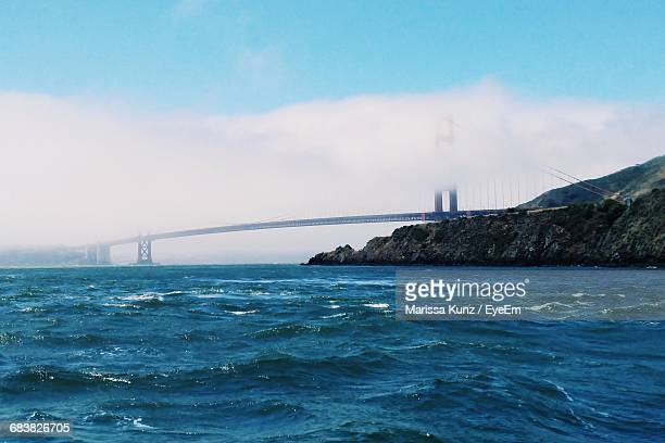 View Of The Golden Gate Bridge Covered In Fog