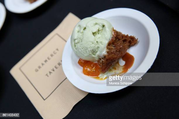 A view of the Gramercy Tavern ice cream served during Family Ice Cream Fundae hosted by Mario Batali and Ayesha Curry at Private Park at Hudson on...