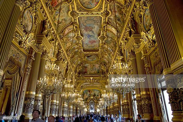 A view of the 'Grand Foyer' taken on May 11 2014 inside the Opera Garnier in Paris AFP PHOTO / ALAIN JOCARD
