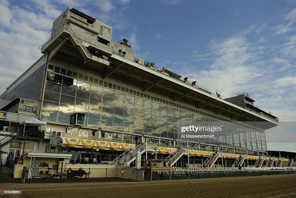 A view of the grandstand in earlymorning sunlight before the running of the 2006 Preaknesss at Pimlico Racetrack Baltimore Maryland May 20 2006