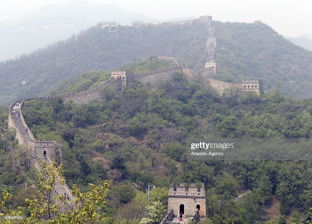 A view of the Great Wall of China in Beijing, China on April 30, 2016.