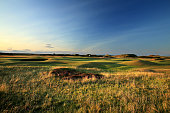 A view of the green from the rough short left of the green on the par 4 4th hole 'Ginger Beer' on the Old Course at St Andrews venue for The Open...